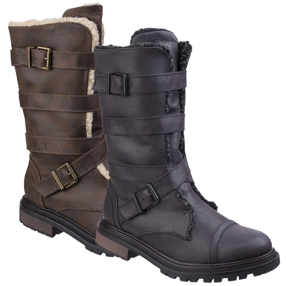 Zapatos especiales con descuento Rocket Dog Womens/Ladies Lance Zip Up Durable Casual Tall Buckle Boots