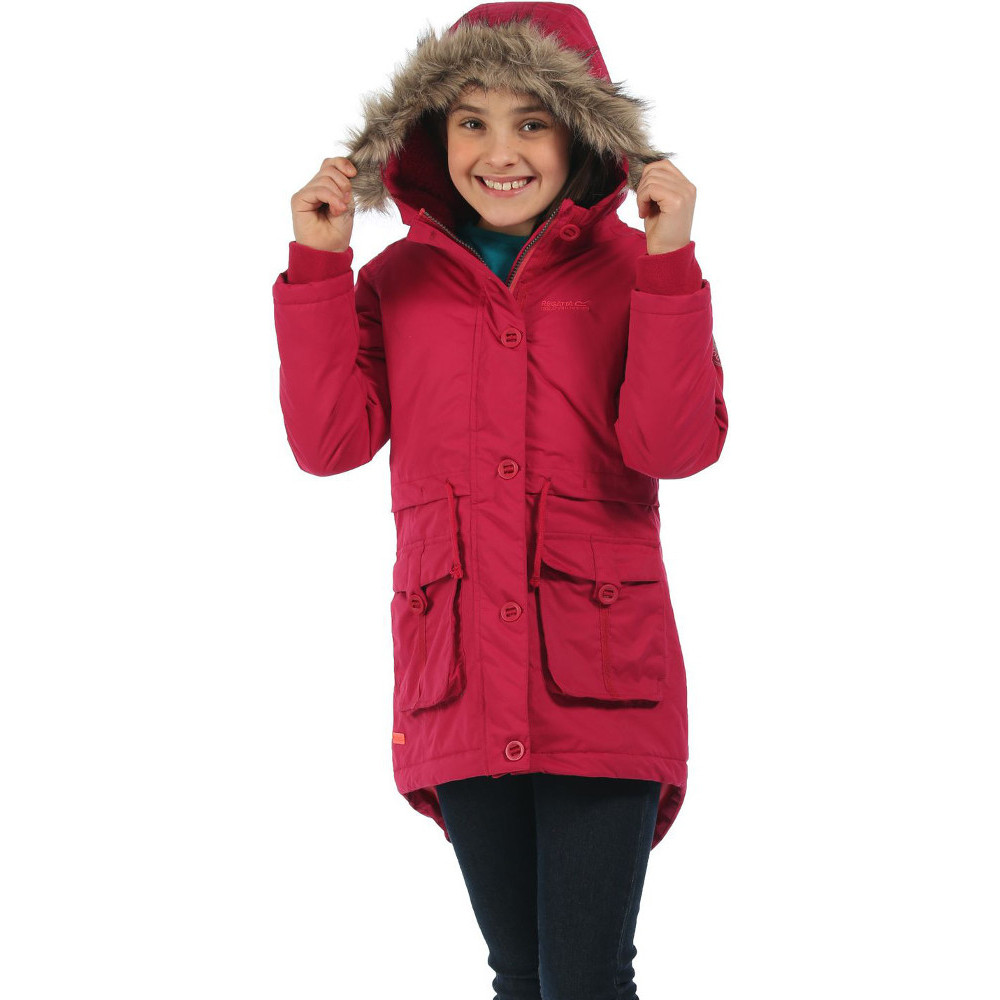 Regatta Girls Totteridge Parka Waterproof Polyester Walking Jacket ...
