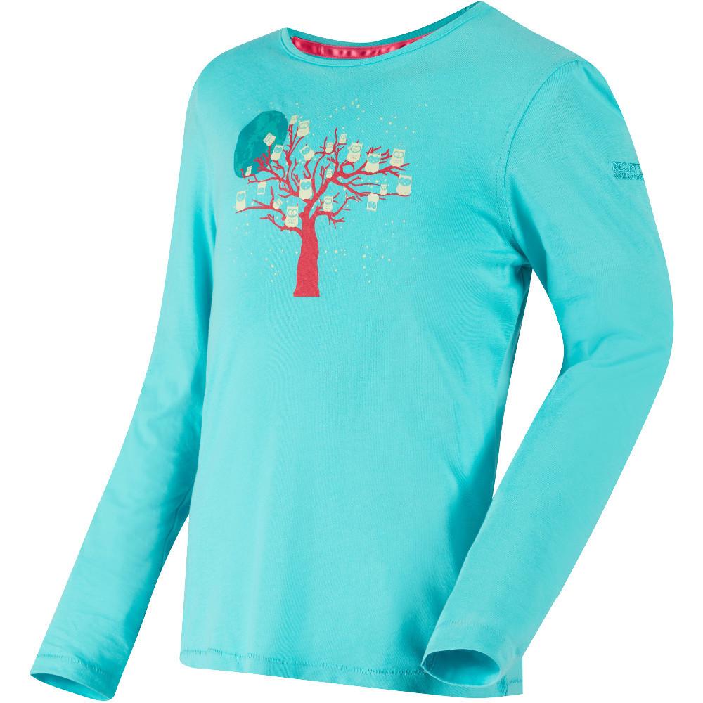 Regatta Boys /& Girls Whiteshaw Glow-in-the-Dark Long Sleeve T-Shirt