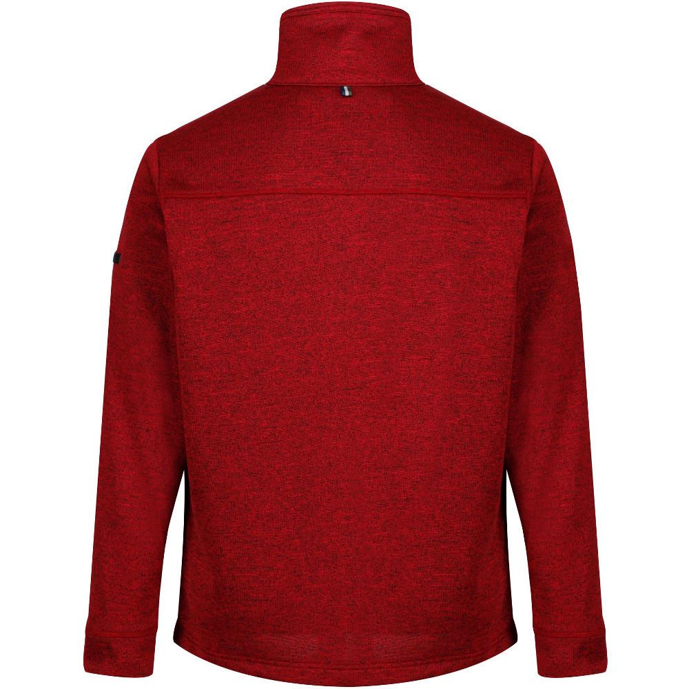 Regatta Mens Galton Knit Effect Marl Zip Up Fleece Jacket