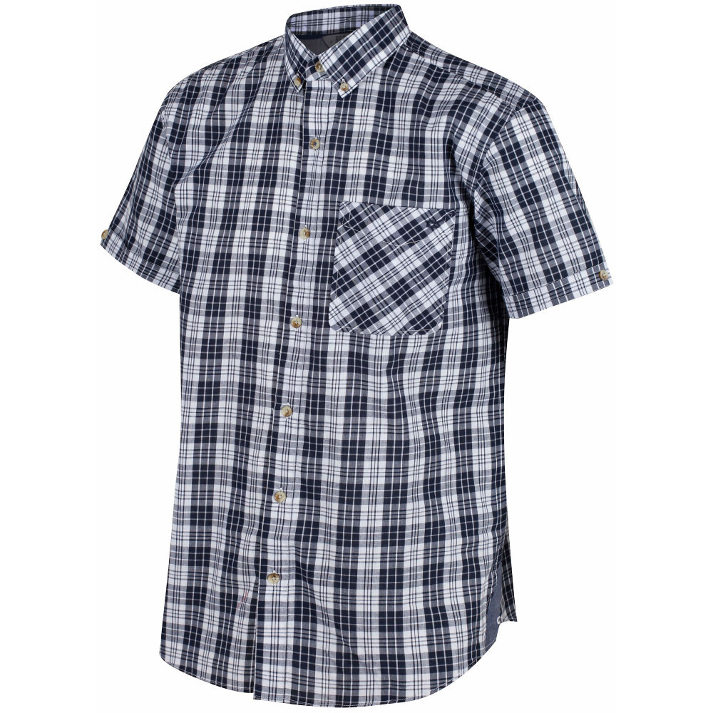 Impartial Classic Fit Blue Herringbone Plaid French Cuff Cotton Dress Shirt Dress Shirts