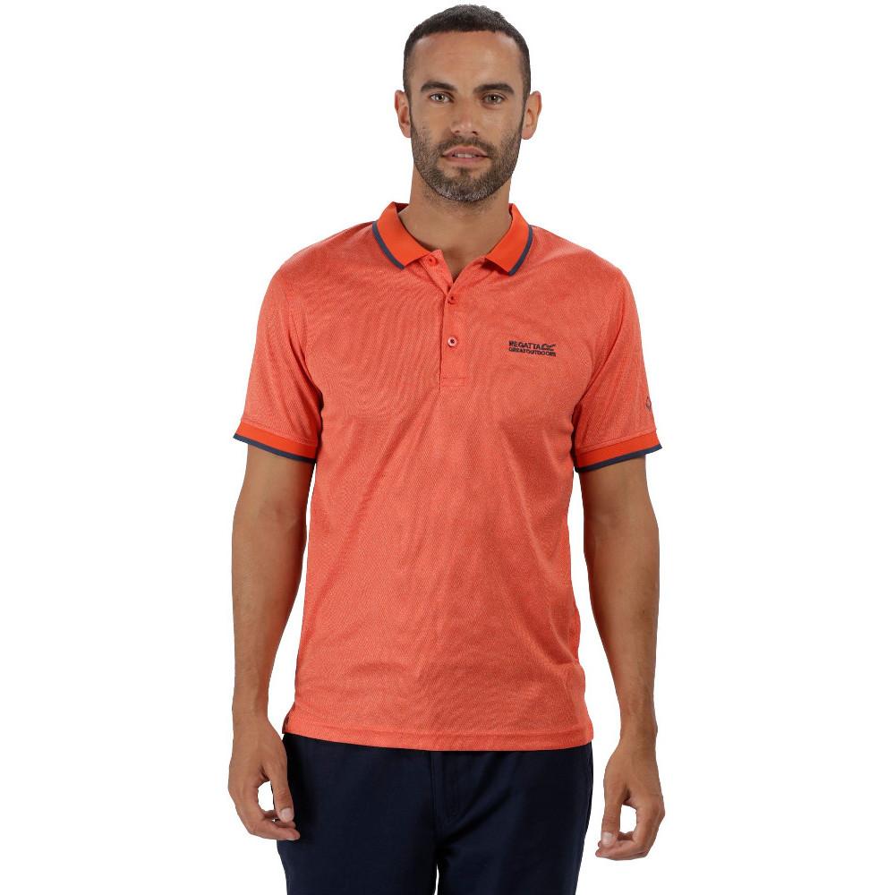 Regatta Mens Remex Quick Dry Polyester Marl Casual Polo Shirt C7P3ZYjqw