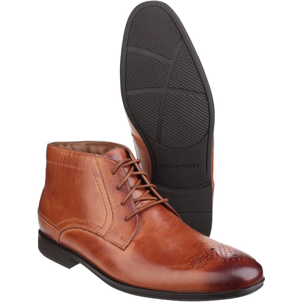 Rockport-Mens-Style-Connected-Lace-up-Chukka-Flexible-Leather-Boots