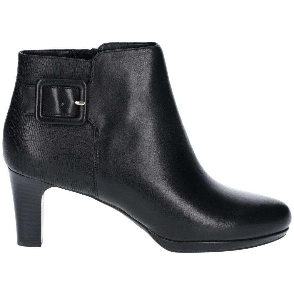 Rockport Total Motion Leah de cuero para al mujer botas al para Tobillo Tacón 96434c