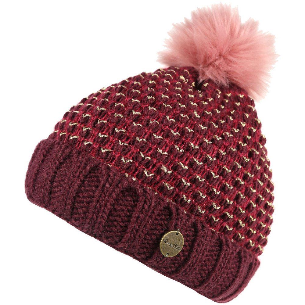b533db10359677 Regatta Womens/Ladies Lovella Knitted PomPom Winter Walking Beanie Hat