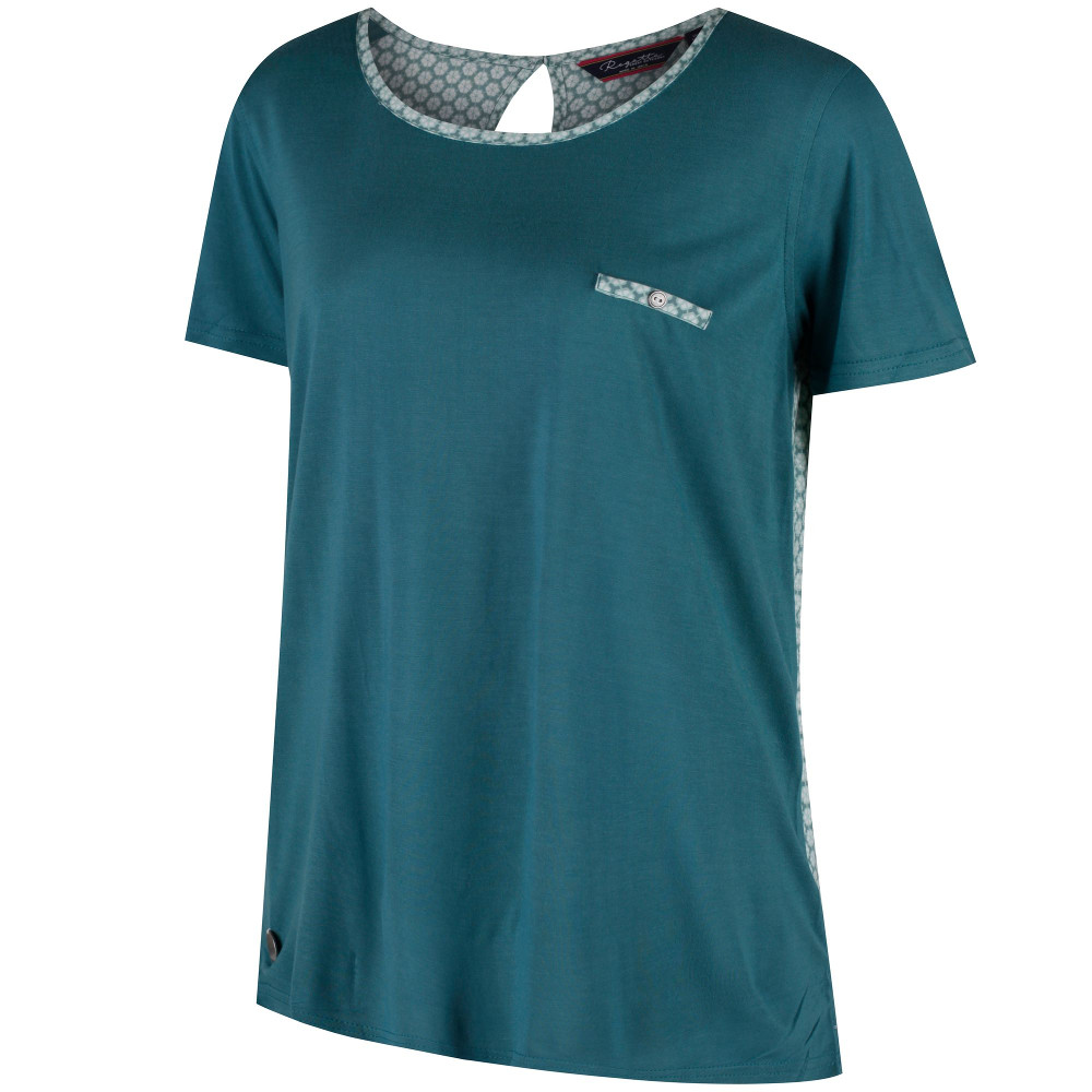 Regatta Womens//Ladies Alaina Coolweave Hybrid Contrast Walking T Shirt