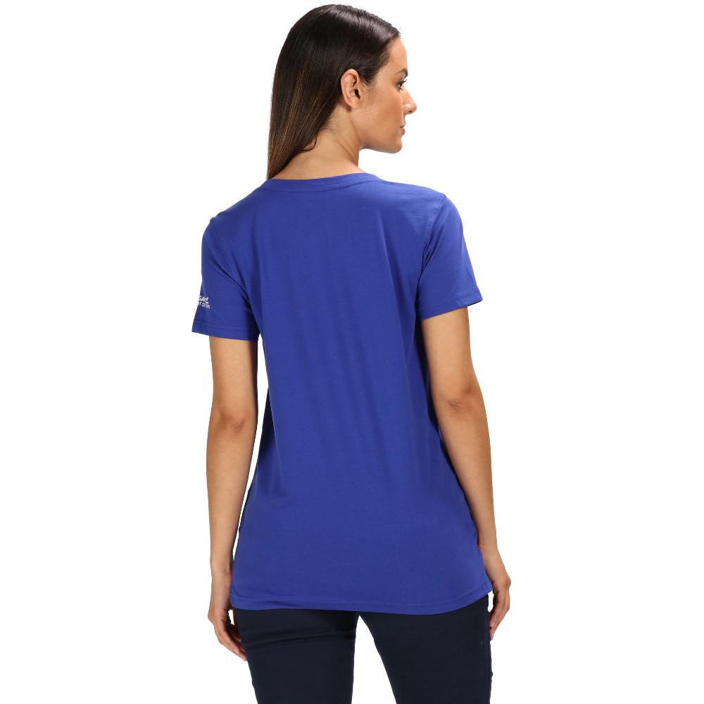 Regatta Womens Filandra III Coolweave Cotton Graphic T Shirt