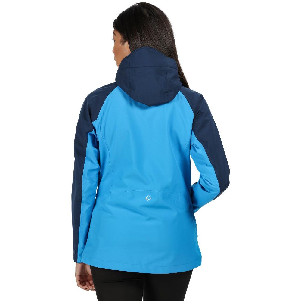 Regatta Womens Birchdale Waterproof Hooded Jacket Top Blue Purple Sports