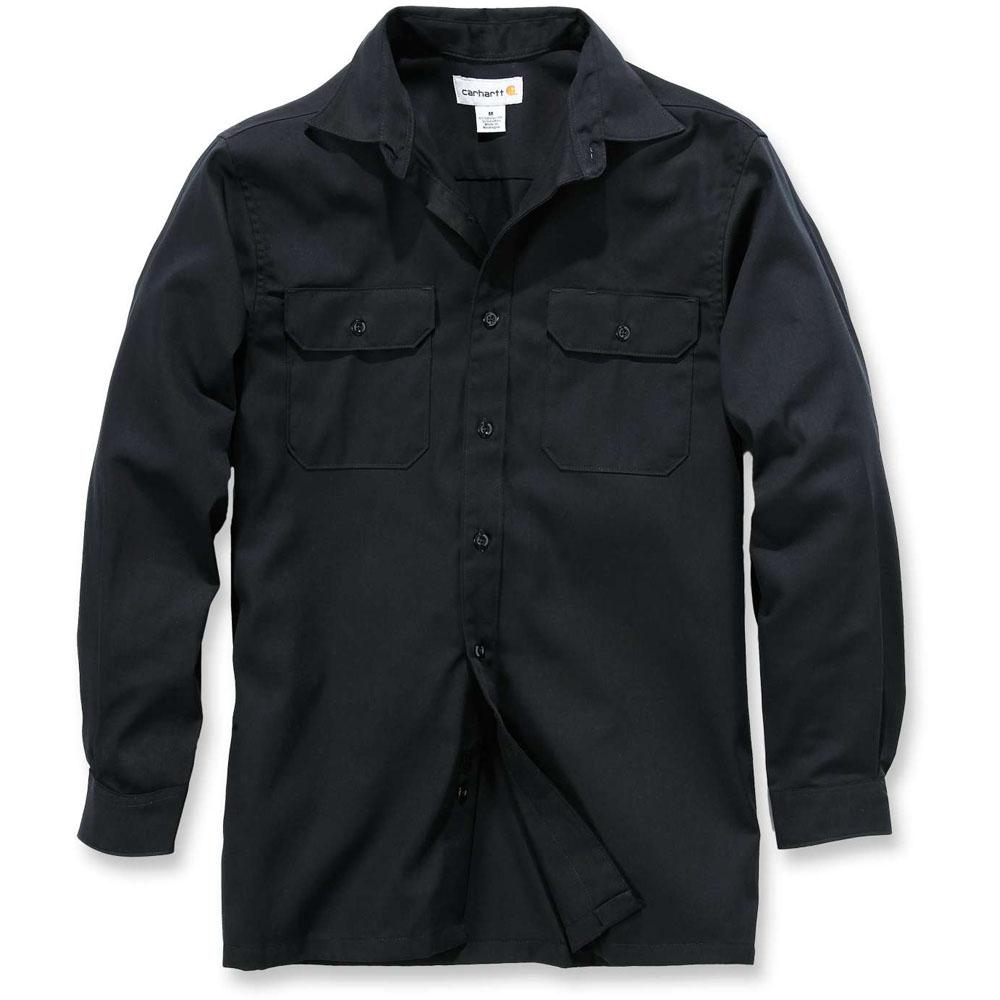 Carhartt mens twill polyester cotton long sleeve button for Carhartt men s long sleeve lightweight cotton shirt