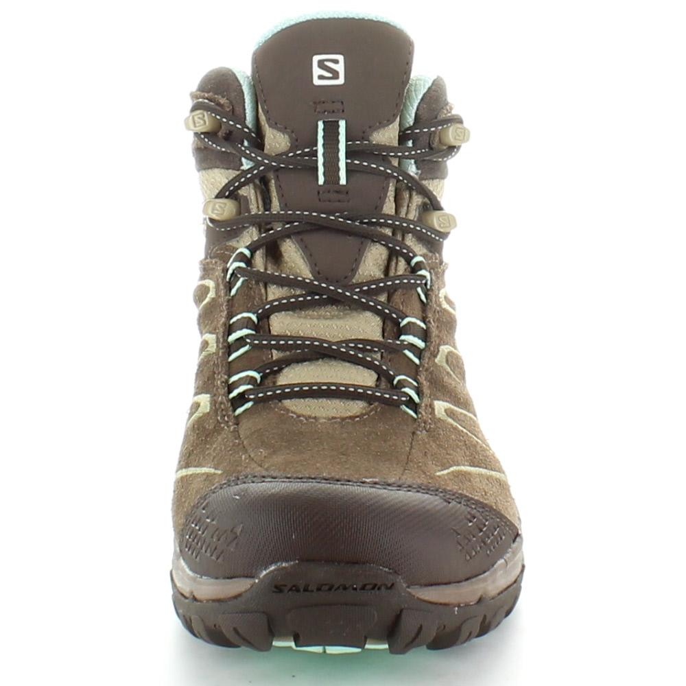 Salomon Ladies Ellipse Mid Leather GTX GoreTex Waterproof Hiking Boots zghDo