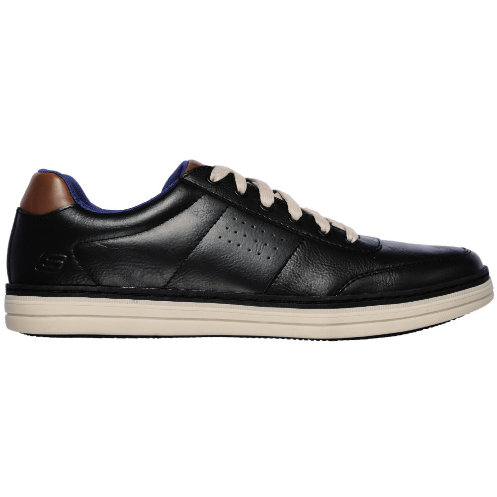 Skechers-Mens-Heston-Avano-Leather-Lace-Up-Casual-Shoes thumbnail 2