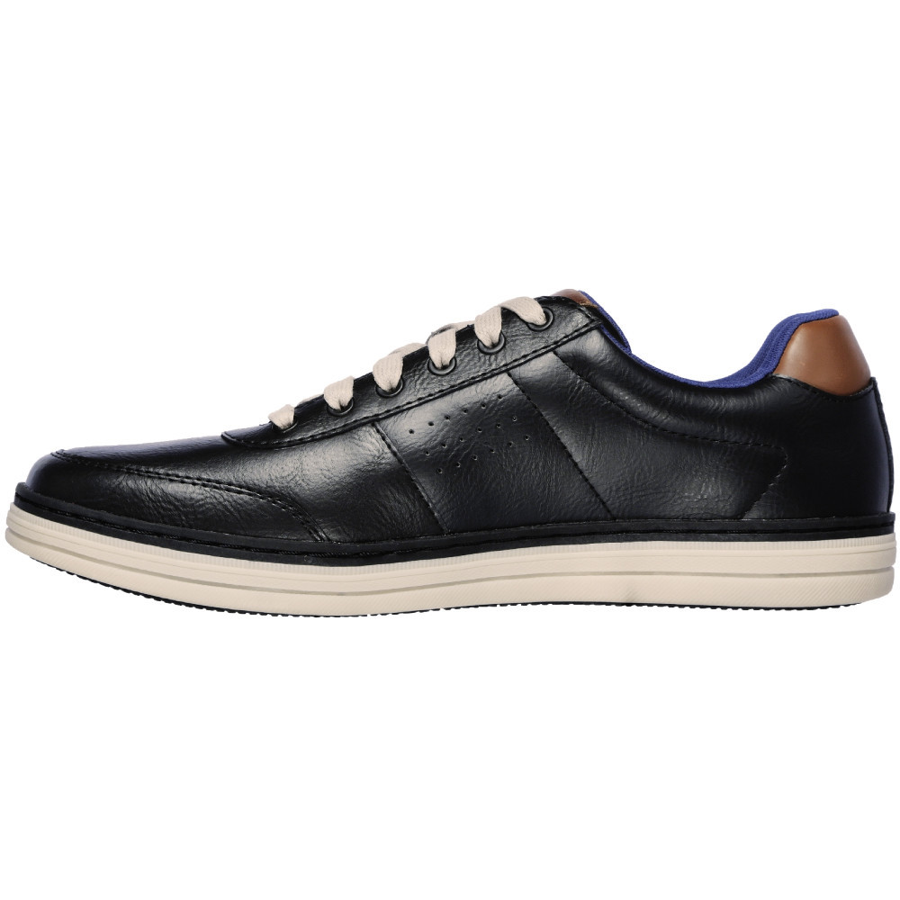 Skechers-Mens-Heston-Avano-Leather-Lace-Up-Casual-Shoes thumbnail 3
