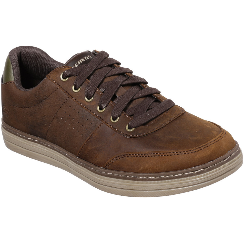 Skechers-Mens-Heston-Avano-Leather-Lace-Up-Casual-Shoes thumbnail 5