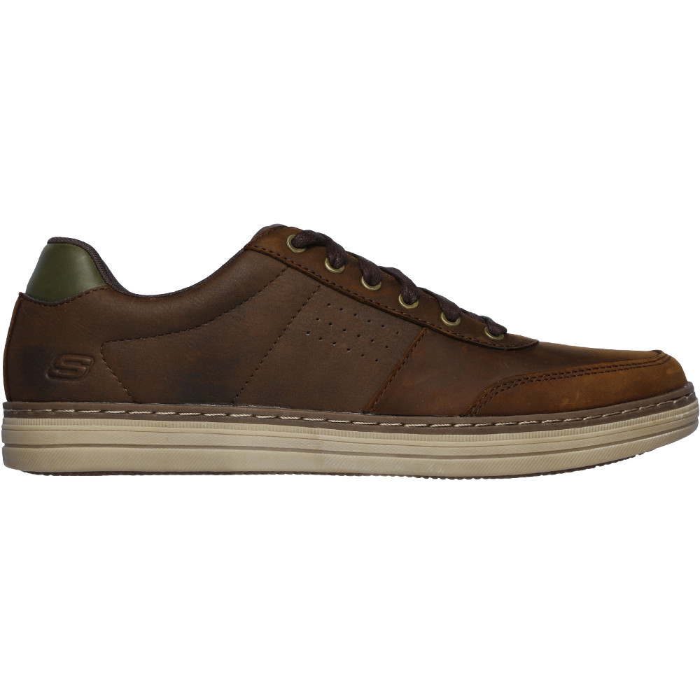 Skechers-Mens-Heston-Avano-Leather-Lace-Up-Casual-Shoes thumbnail 6