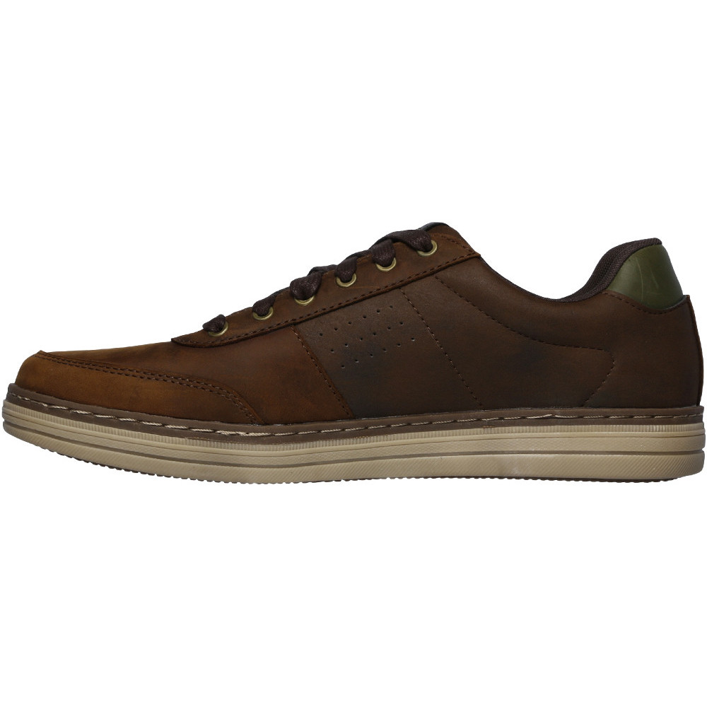 Skechers-Mens-Heston-Avano-Leather-Lace-Up-Casual-Shoes thumbnail 7