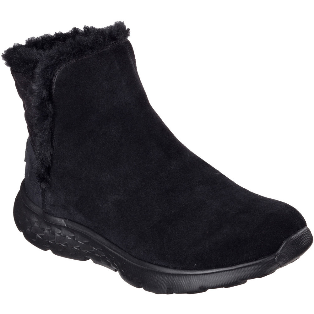 Skechers Womens/Ladies On The Go 400 Cozies Faux Fur Lined Ankle Boots | EBay