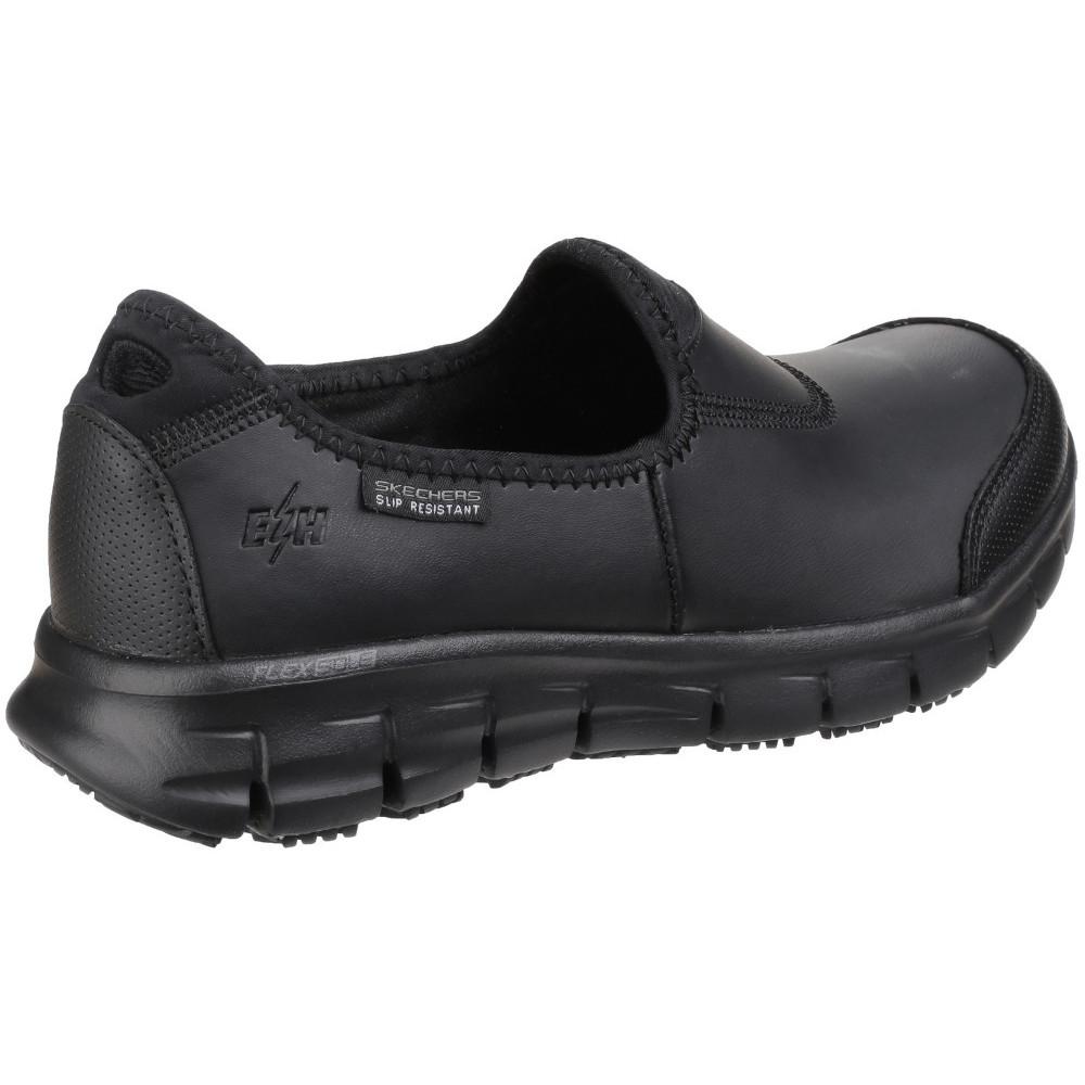 Skechers Womens//Ladies Sure Track Slip Resistant Slip on Work Safety Shoes