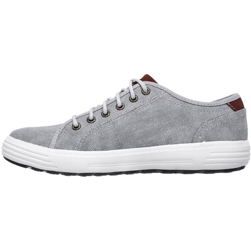 Skechers Mens Porter Meteno Low Profile Textile Canvas Casual Sneakers DÉNOUÉE Botines de caña alta mujer  Blanco (Ecru/Navy) lDwVC
