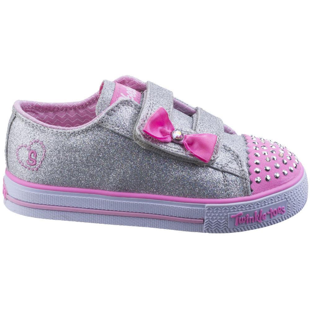 Skechers Twinkle Toes Shuffles Sweet Steps Light Up Shoes