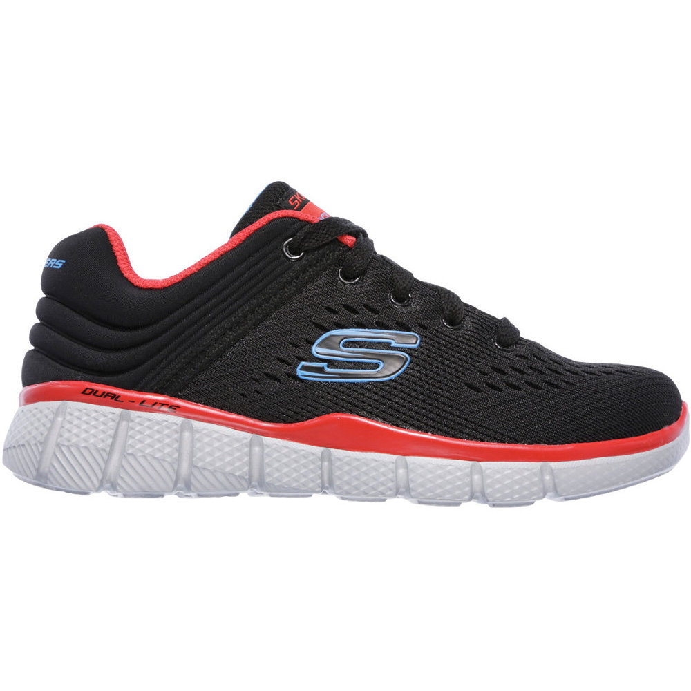 Skechers Youth Equalizer 2.0 Post Season Charcoal Mesh Trainers 6 UK G95AwtCKhp
