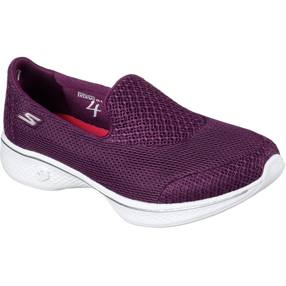 Skechers Sk14170 Go Walk 4 Propel Raspberry Slip Purple Ladies Slip Raspberry on ... 17c360