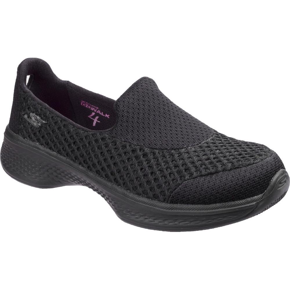 Details about Skechers Boys & Girls Go Walk 4 Kindle Breathable Slip on Shoes
