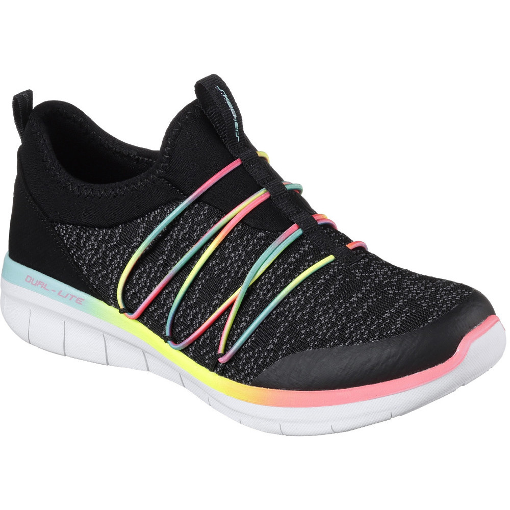 Skechers Damen Synergy 2.0-Simply Chic Slip on Sneaker, Schwarz (Black/White), 40 EU