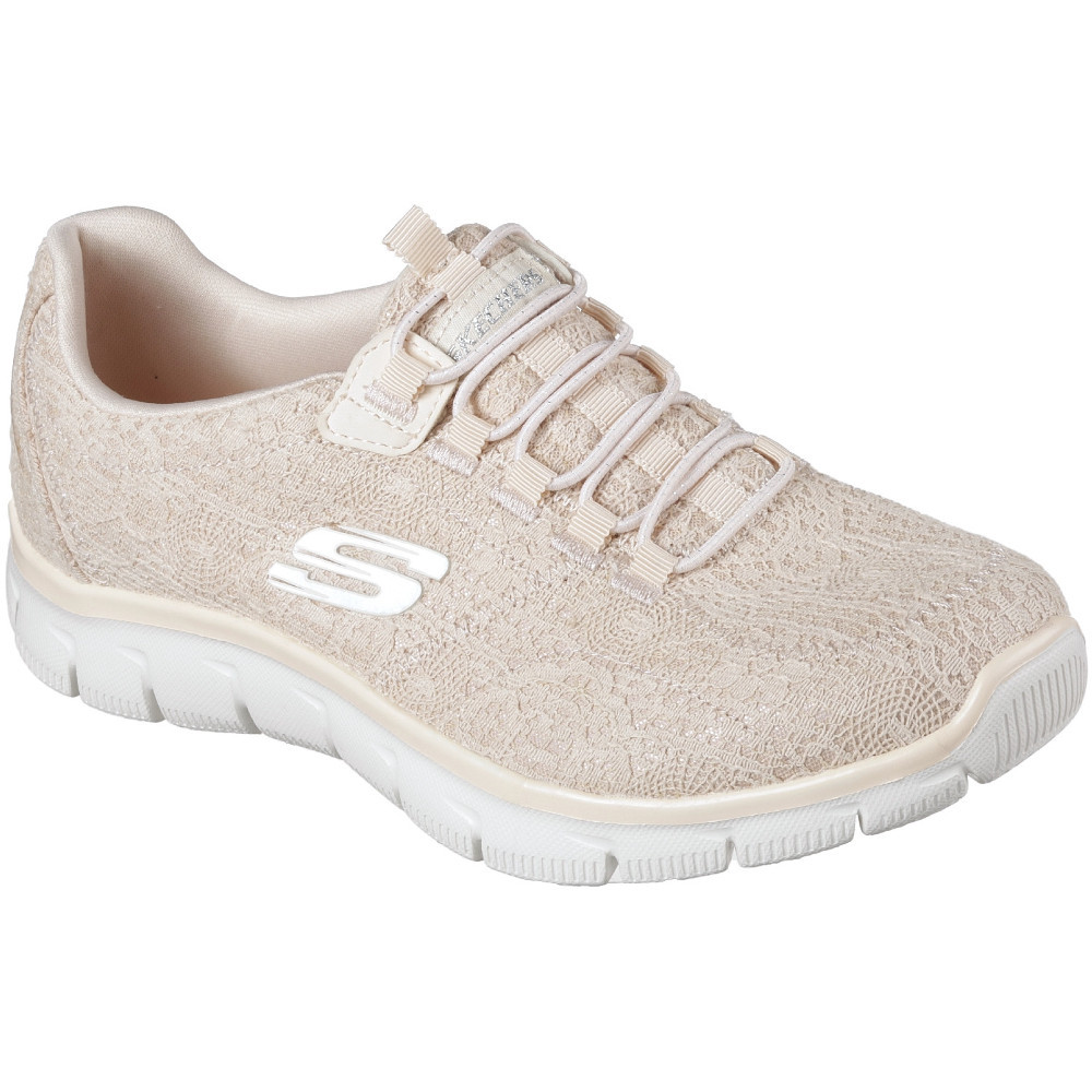 1839f9e10158 Skechers Womens Ladies Empire Spring Glow Memory Foam Sneakers Shoes ...
