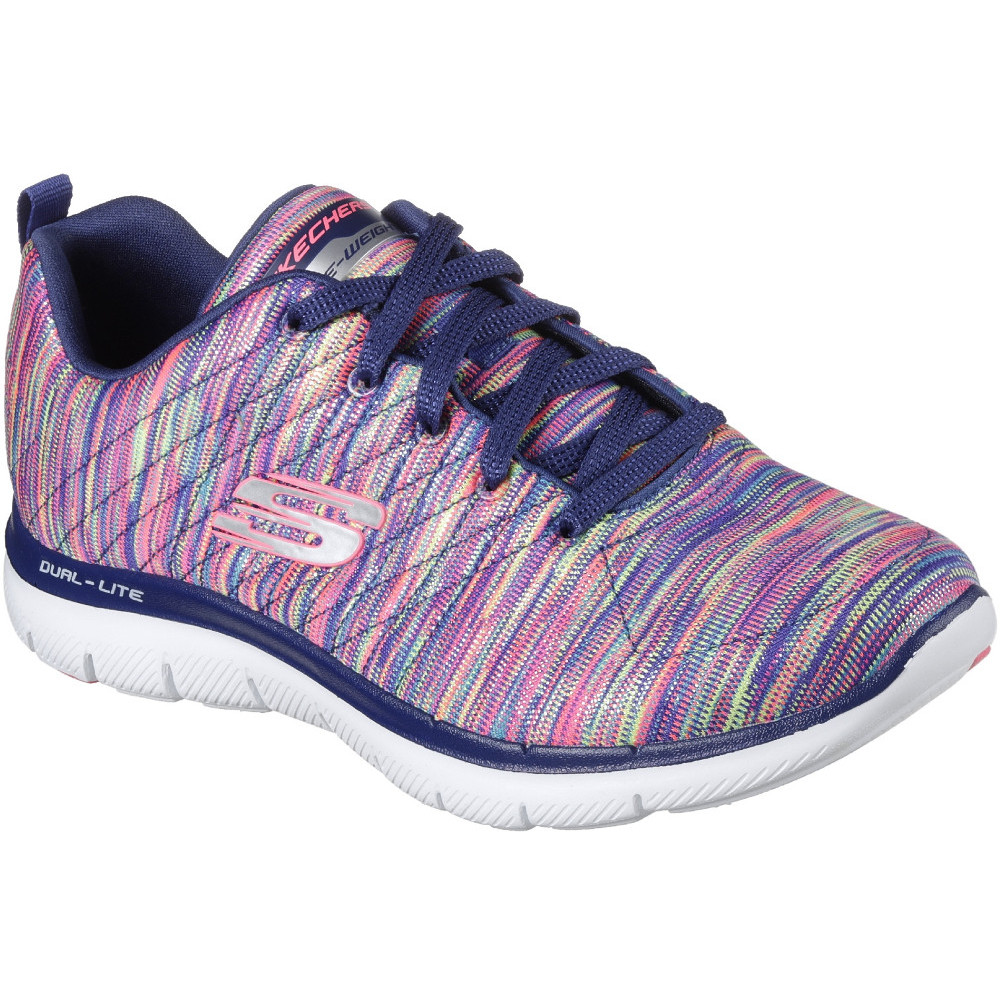 15648c26a5e0 ... Skechers Flex Appeal 2.0 Reflections Womens Trainers Navy Mu hot sales  bc4f9 a8db1 ...