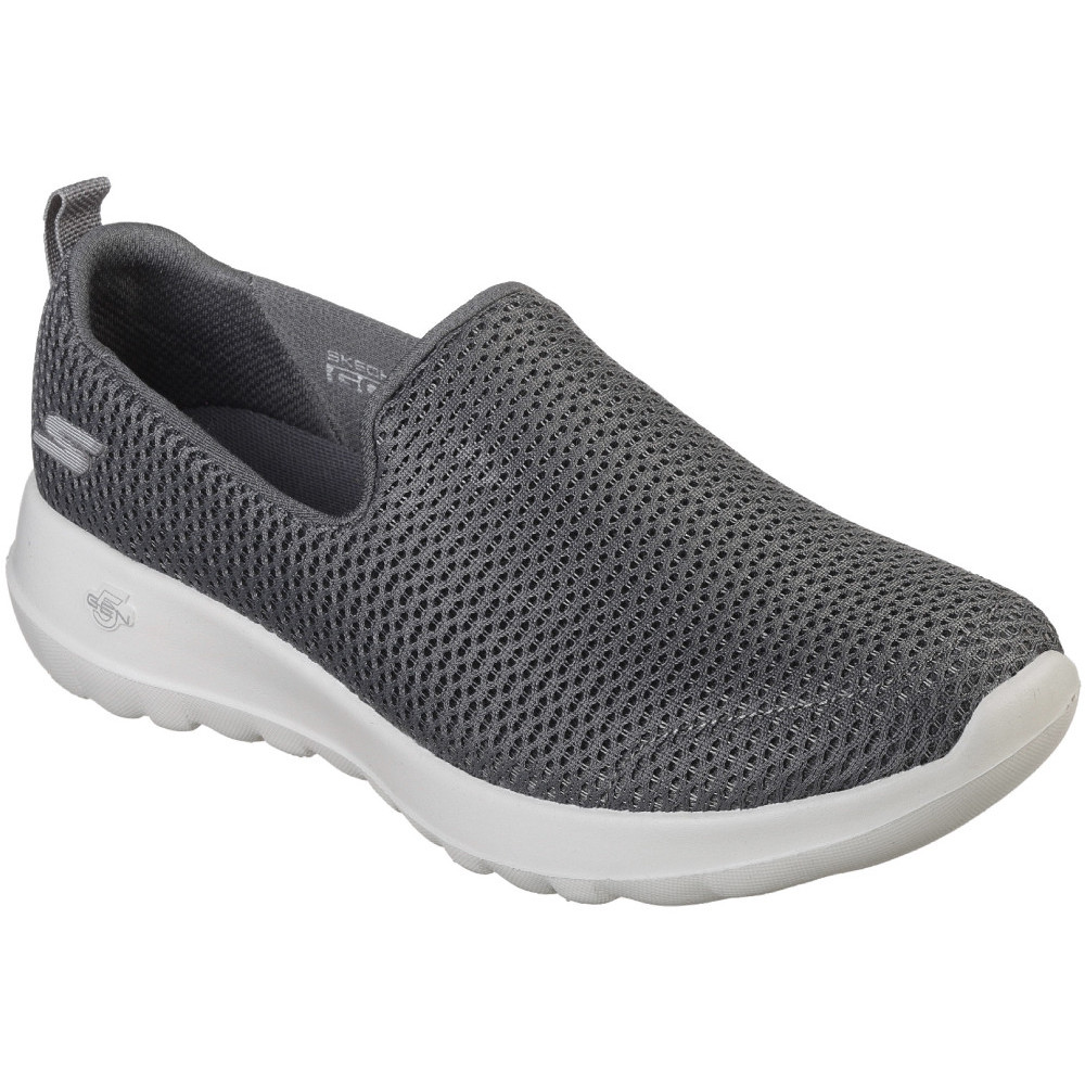 Skechers Go Walk Joy Charcoal Womens Mesh Slip-On Athletic Sneakers Trainers