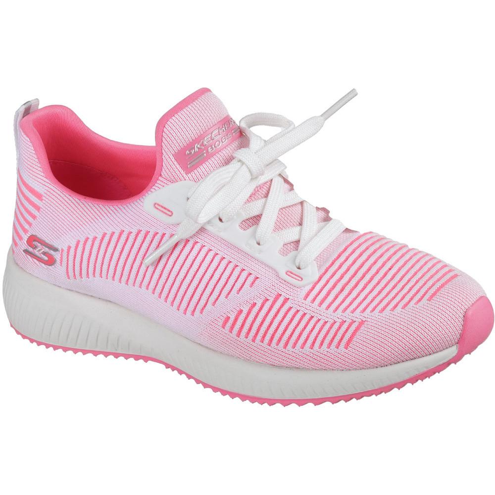 Skechers Womens Ladies Bobs Sport Squad Twinning Laces Sneakers Sneakers Sneakers shoes 47e338