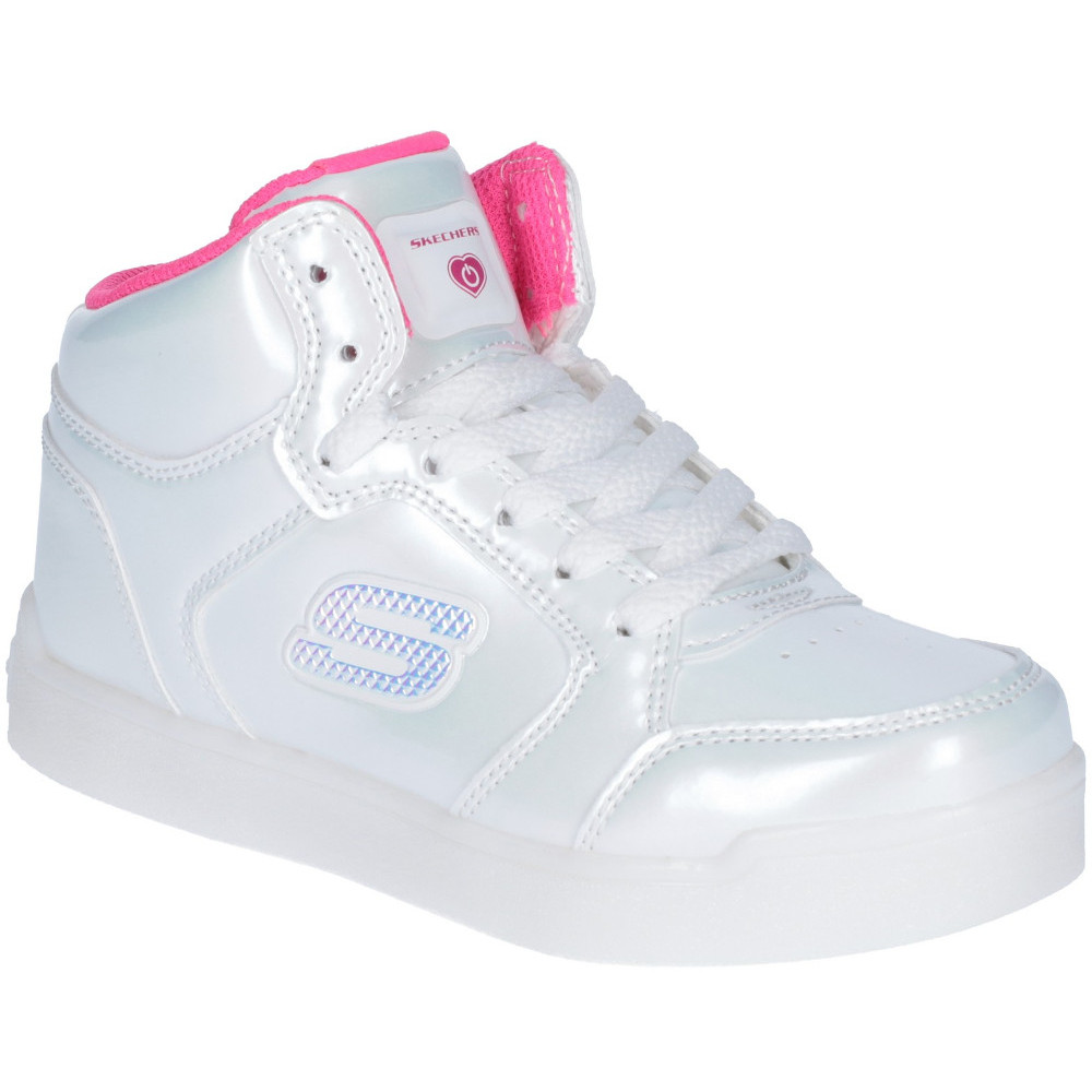 7e9cb761d707 Image is loading Skechers-Girls-Pro-Pearl-Princess-Light-Up-High-