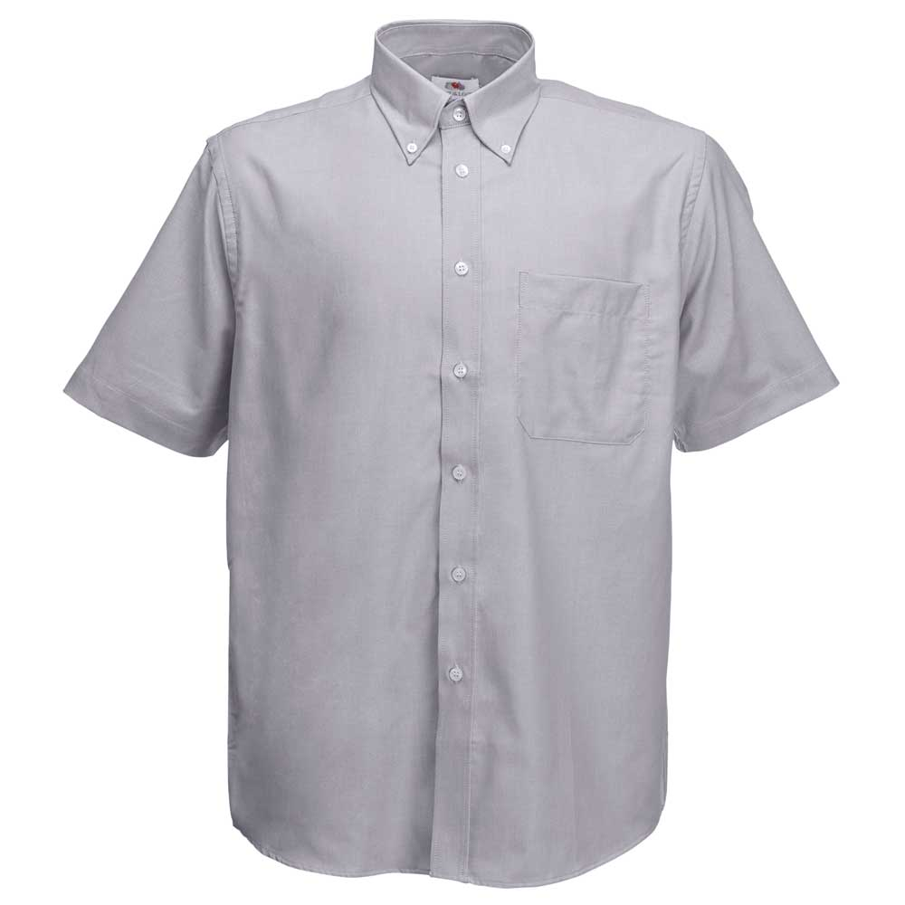 Fruit of the loom mens short sleeve oxford work shirt for Mens short sleeve oxford shirt
