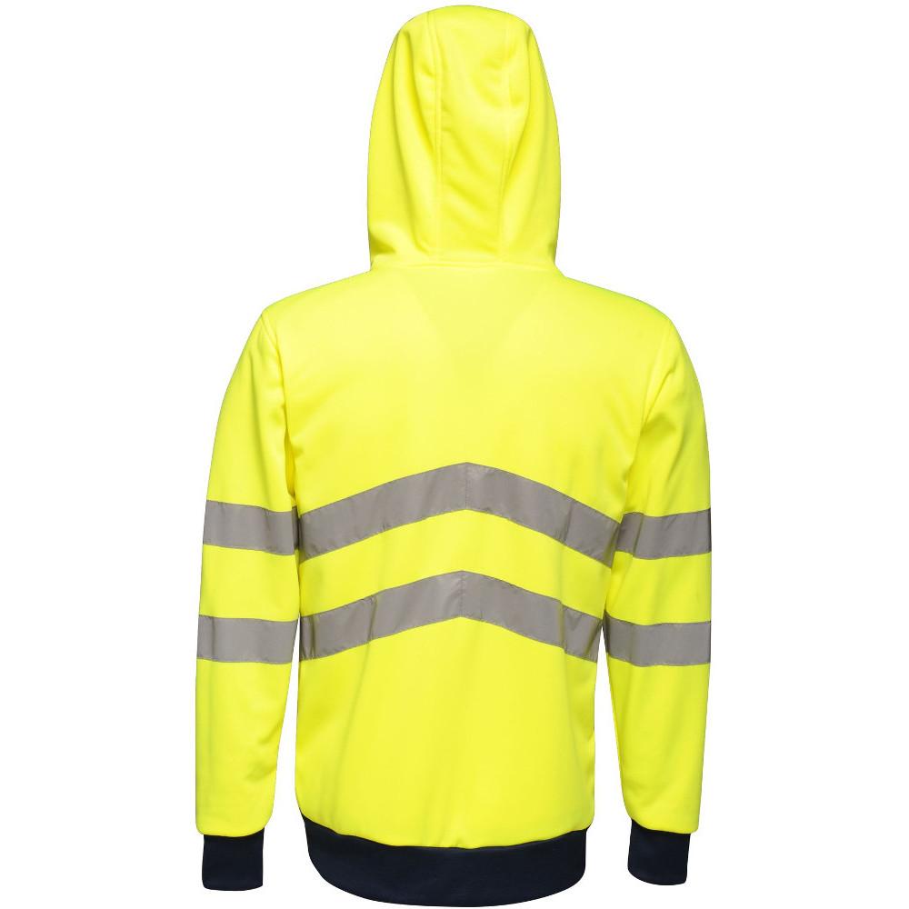 Regatta-Mens-Hi-Vis-Pro-Full-Zip-Workwear-Hooded-Jacket thumbnail 9