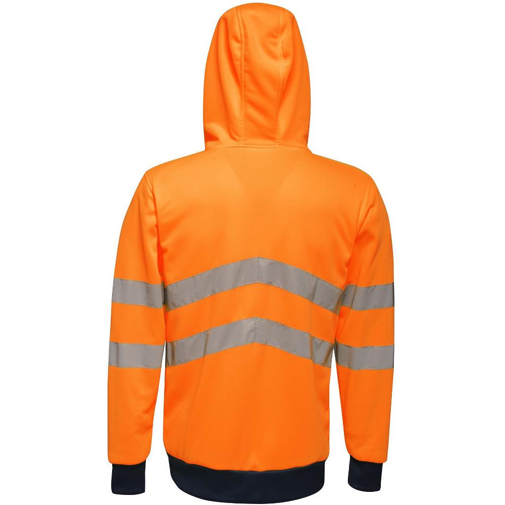 Regatta-Mens-Hi-Vis-Pro-Full-Zip-Workwear-Hooded-Jacket thumbnail 7