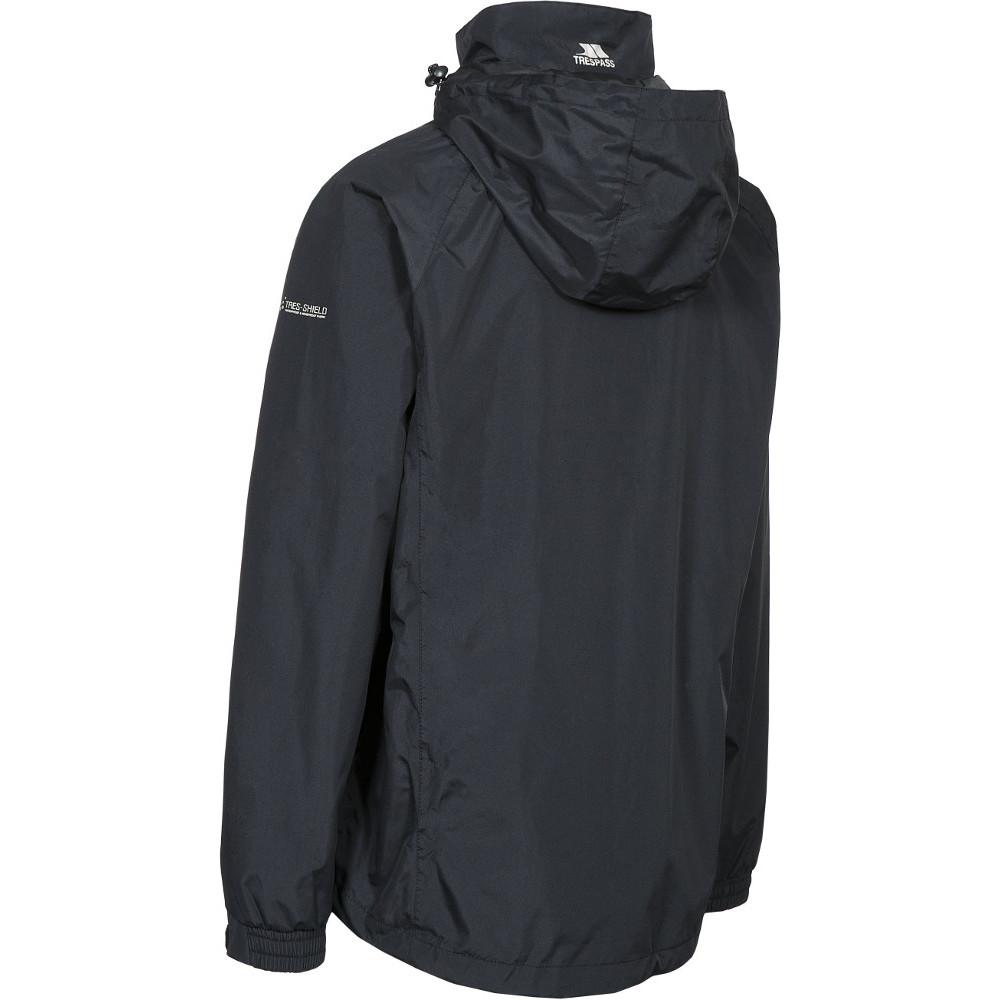 Trespass-Para-Hombre-Nabro-II-Impermeable-a-Prueba-de-Viento-Lluvia-chaqueta-de-cascara miniatura 5