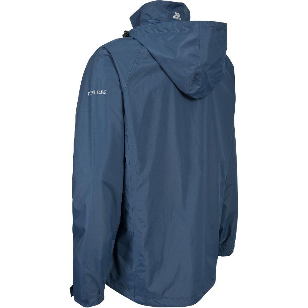 Trespass-Para-Hombre-Nabro-II-Impermeable-a-Prueba-de-Viento-Lluvia-chaqueta-de-cascara miniatura 9