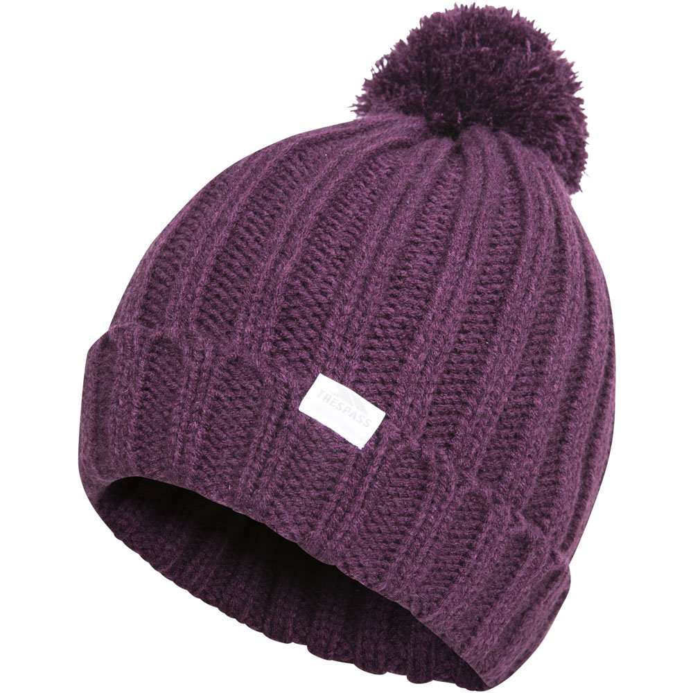 0475e30b2e7 Trespass Womens Ladies Alisha Knitted Pom Pom Fleece Beanie Hat