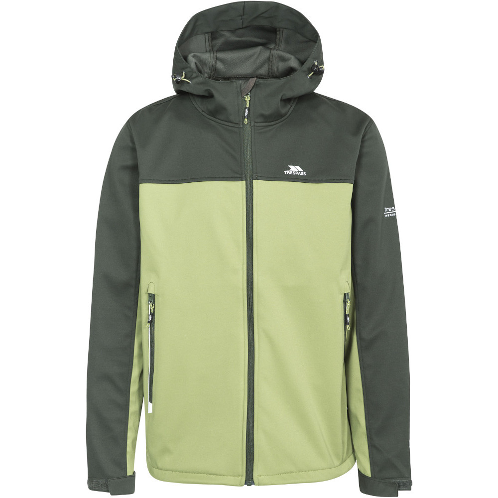 Trespass Homme Palin Zip Wicking Imperméable Coupe-vent Softshell Veste