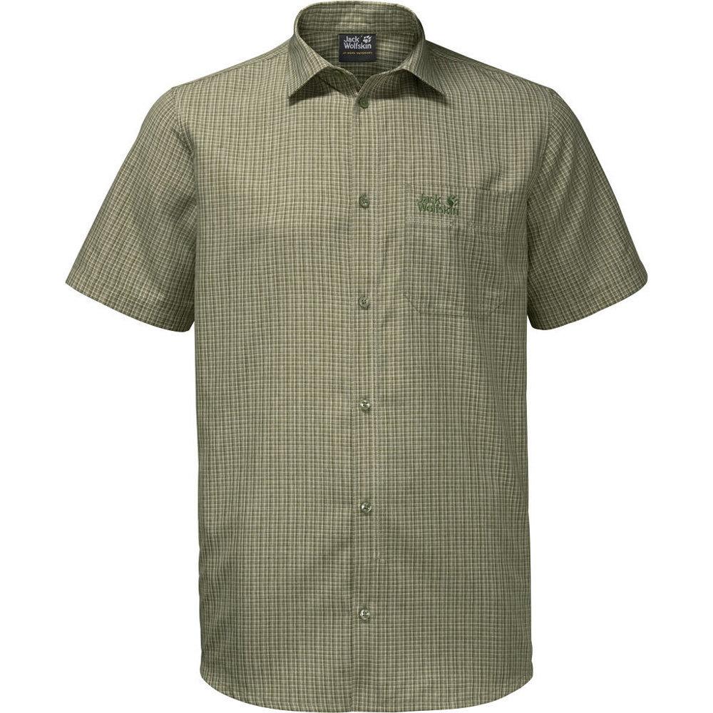 8c0392886a2d3c Jack Wolfskin Mens El Dorado Short Sleeve Checked Button Shirt