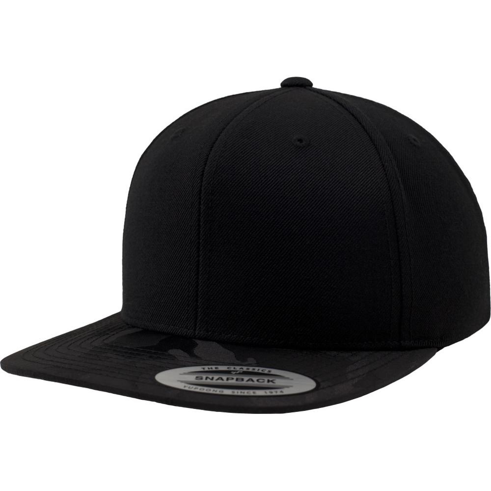 8c74cc0a9ca Flexfit by Yupoong Mens Classic Shape Camo Visor Snapback Cap ...