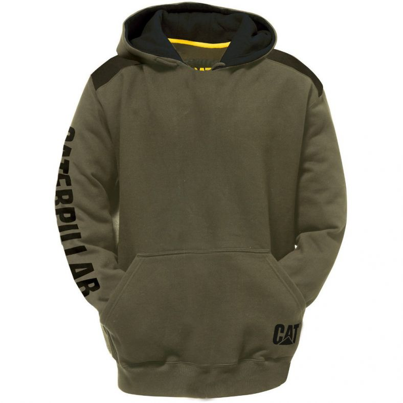 CAT Workwear Mens Flash Adjustable Reflective Logo Sweatshirt Hoodie