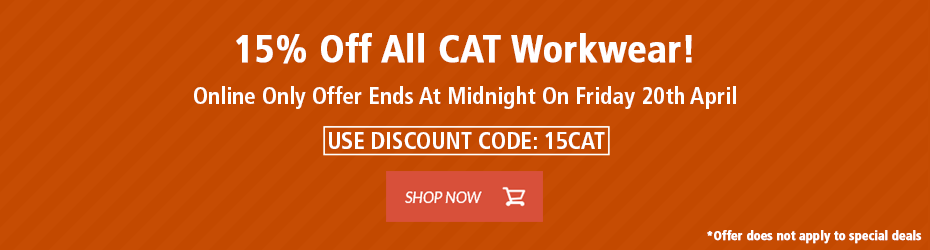 15% Off CAT Workwear!