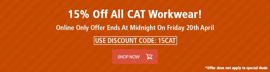 15% Off CAT Workwear!